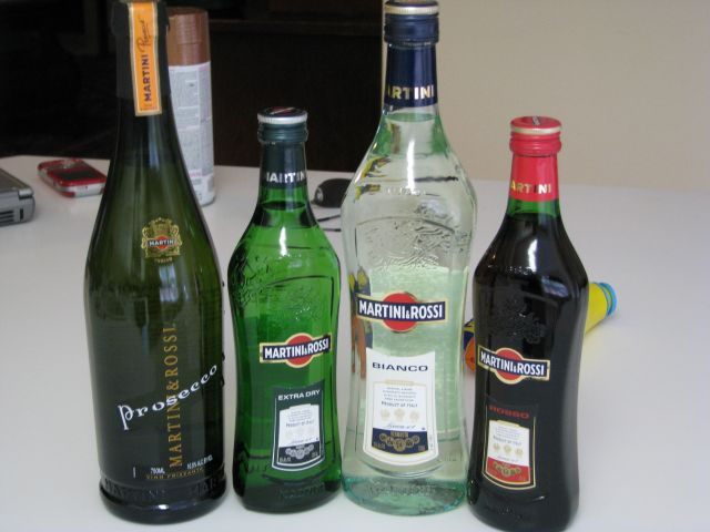 The Martini & Rossi family of products for today