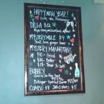 NYE menu