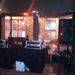 Post-party, the DJ stand
