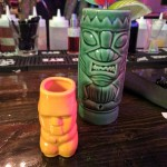 Shot glass and tiki mug