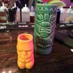 Shot glass and tiki mug